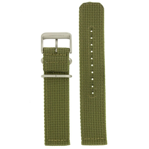 Nylon Watch Band Military Sport Strap Army Green Stainless Heavy Buckle - Main