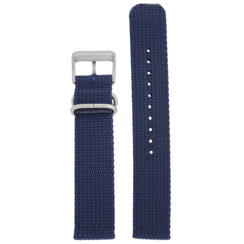 Nylon Watch Band Military Sport Strap Navy Blue Stainless Heavy Buckle - Main