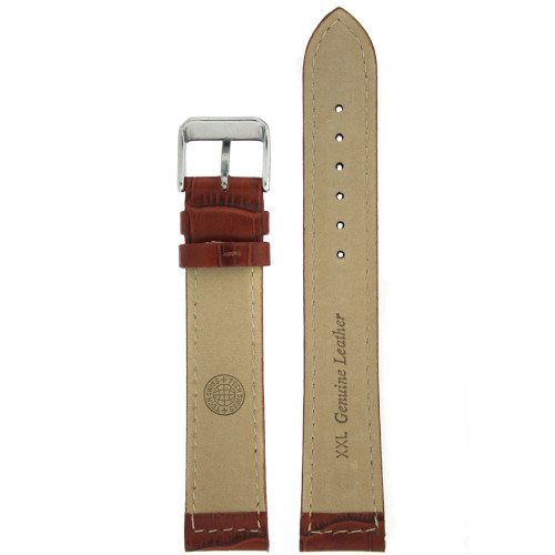 Watch Band with Alligator Grain in Brown by Tech Swiss - Bottom View - Main