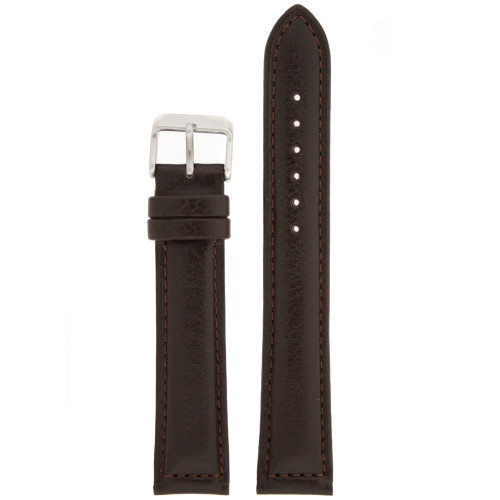 Black Leather Watch Band by Tech Swiss - Top View
