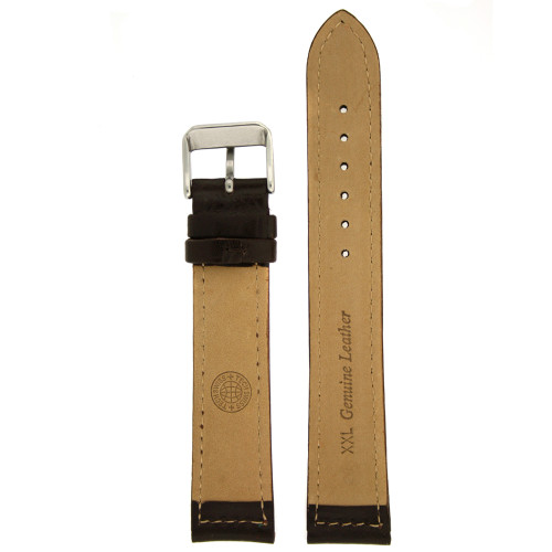 Black Leather Watch Band by Tech Swiss - Bottom View - Main