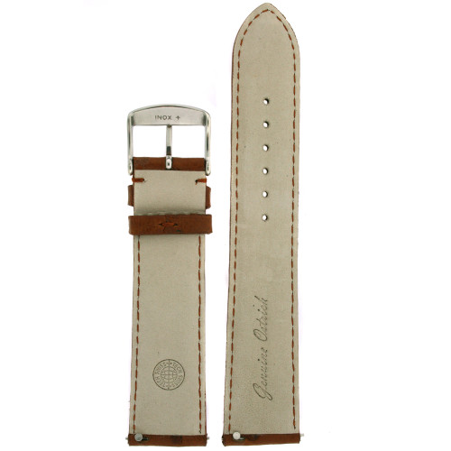 Brown Ostrich Leather Band interior - Main