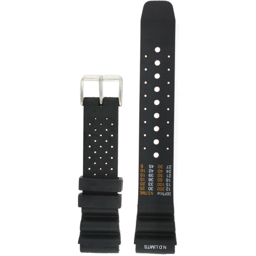 Watch Band Fits Aqualand 20mm ND limits Black - Main