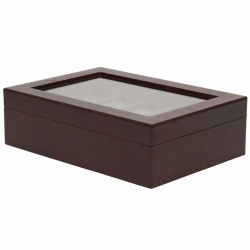 Watch Box in Espresso by Tech Swiss - Store up to 10 Watches - Front