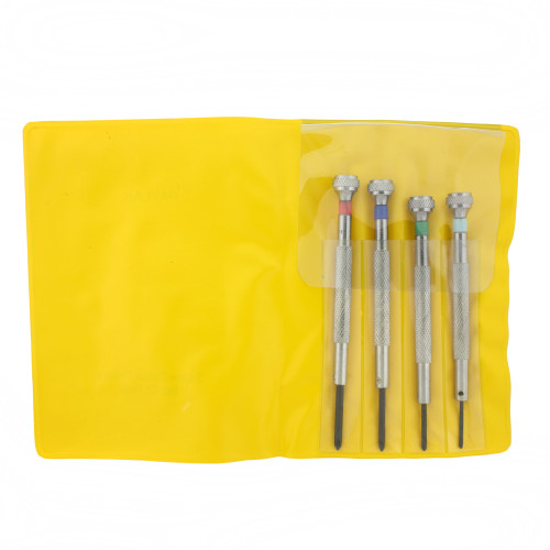 Micro Screwdriver Set 4 Phillips Set Vinyl Case - Main