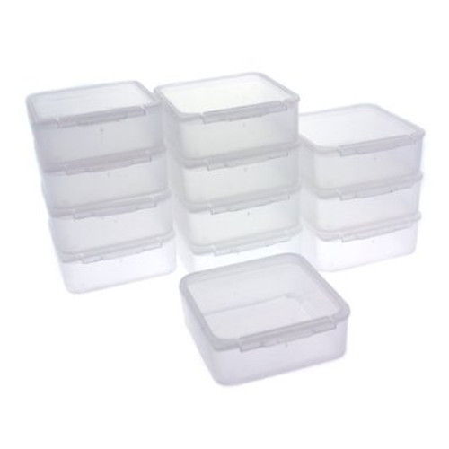 12 Storage Square Clear Container for Small Items Organizer 1.5 inches Square - Main