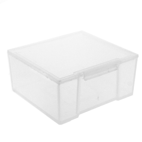 Paylak 12 Storage Square Clear Container for Crafts Beads Small Items Organizer 2 inches Square - Main