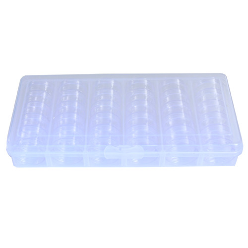 30 Round Stackable Clear Tray Container