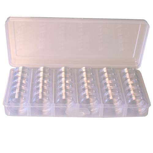 Paylak Storage Box Divider Tray 30 Round Stackable Clear Containers Organizer for Small Items - Main