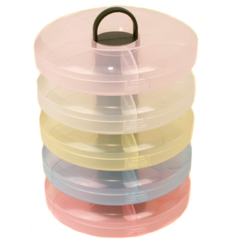 Stackable bead craft watch part container