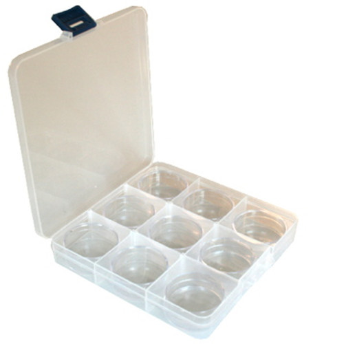 Paylak Impact Resistant Storage Box With Divider Tray and Clear 9 Round Container Compact Storage