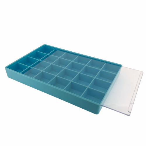 Storage Box 24 Compartment Craft Organizer Tray-Blue - Main