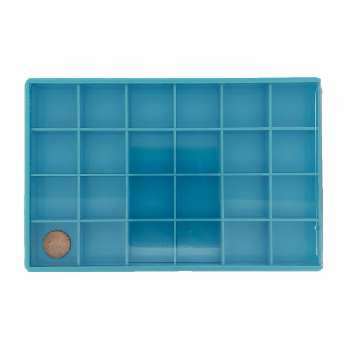 Storage Box 24 Compartment Craft Organizer Tray-Blue