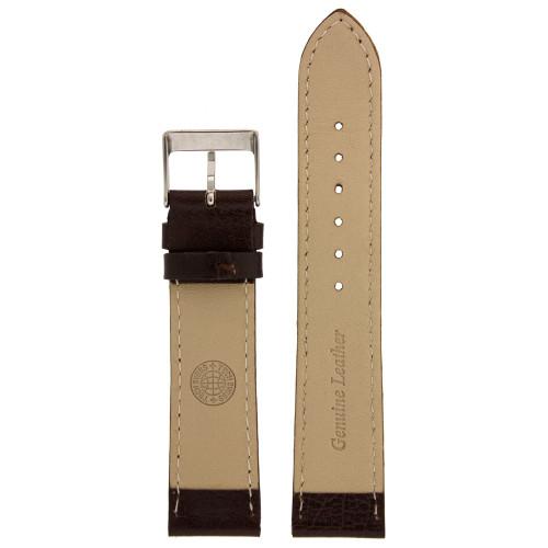 Brown Calfskin Leather Watch Band - Bottom View - Main
