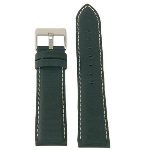 Black Nylon Watch Band by Tech Swiss - Top View - Main