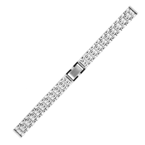 Watch Band Link Stainless Steel Fold Over Clasp Ladies 12