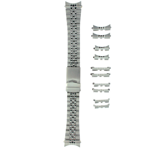 Watch Band Stainless Steel Metal Adjustable Men's Fits 18-22 - Main