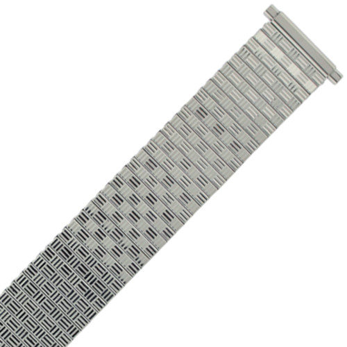 Watch Band Expansion Metal Stretch Silver Color Thin Line fits 17mm to 21mm