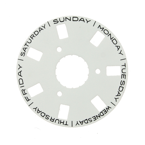 Day Dial Disc to Generic Rolex  3155 White Color 2561-3155W - Main