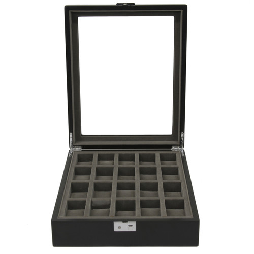 Single Level Watch Box in Black/Grey