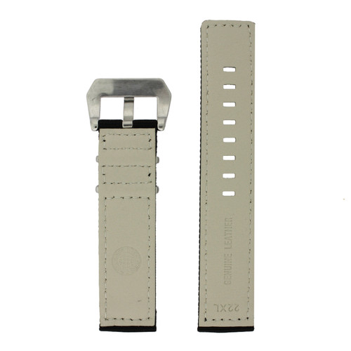 Nylon Watch Band in Black by Tech Swiss - Bottom View