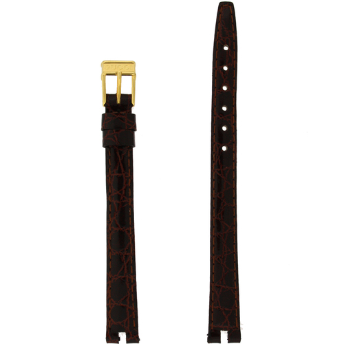 Gucci Watch Band 10mm Brown model 2000L Crocodile Grain