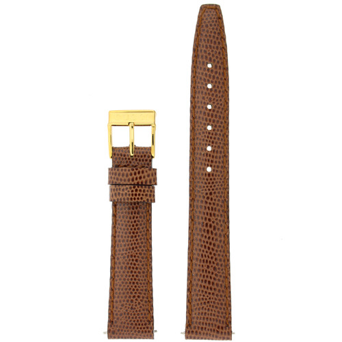 Gucci Watch Band 14mm Tan Genuine Lizard 6300L Square Buckle