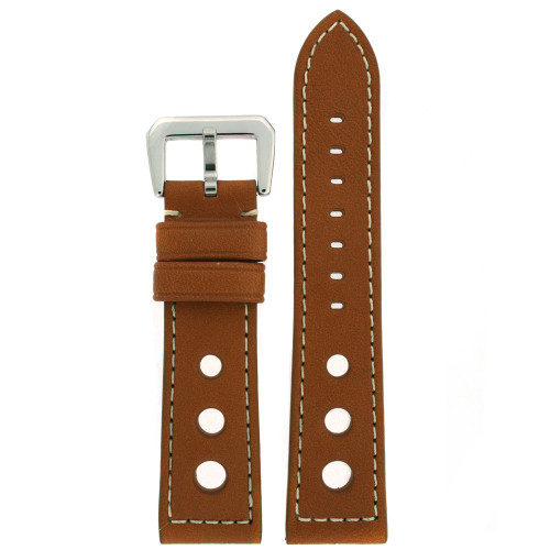Watch Band Genuine Leather Tan LEA486