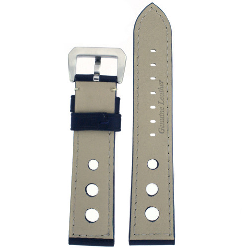 Watch Band Genuine Leather Blue LEA487 - Main