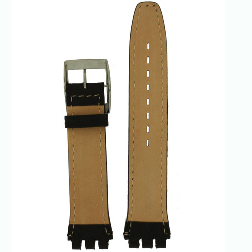 Black Watch Band in size 19 mm by Tech Swiss - Bottom View - Main