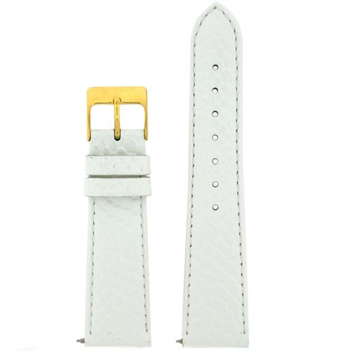 White Snake Grain Watch Band with Quick Release - Top View