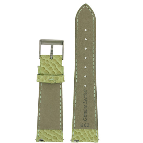 Snake Grain Watch Band in Green - Bottom View - Main