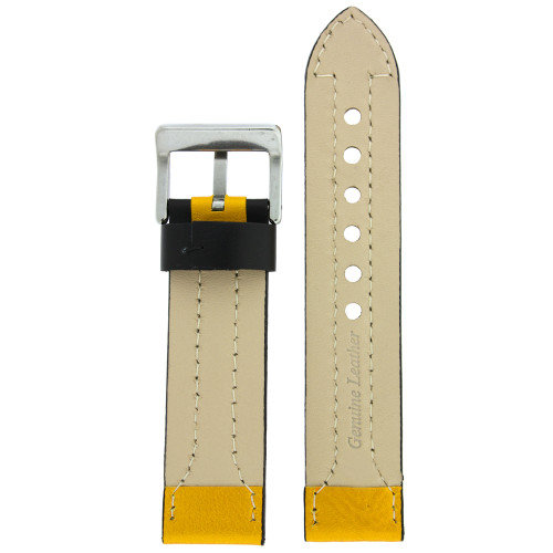Black and Yellow Sports Watch Band - Bottom View - Main