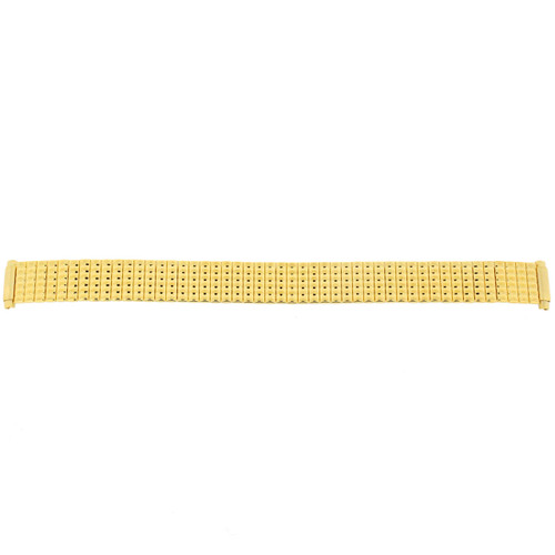 Expansion Metal Stretch Gold Plated fits 10mm 11mm 12mm 13mm 14mm Watch Band | Full View