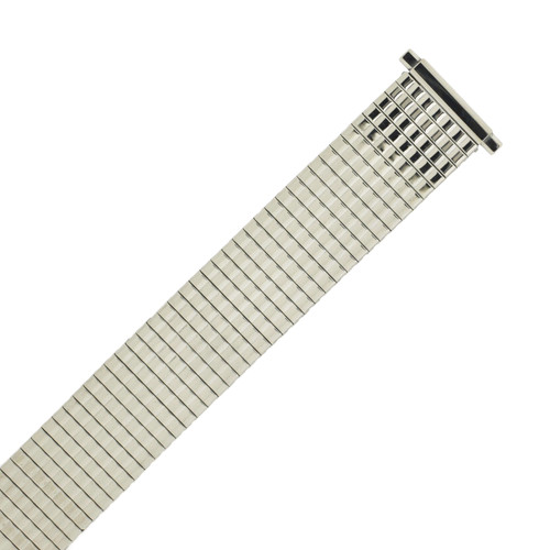 Watch Band Expansion Metal Stretch Silver-Tone Thin Line - TSMET187