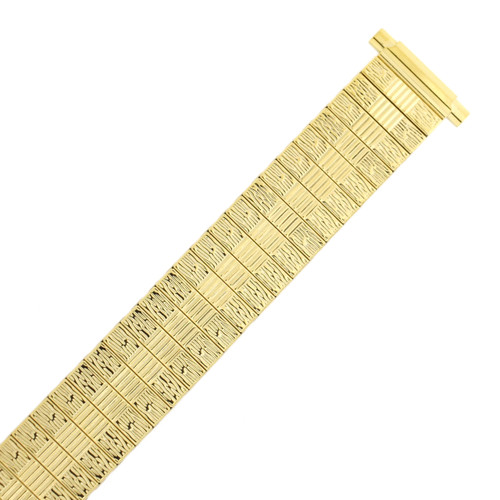 Watch Band Expansion Stretch Metal Gold-tone 16-20 mm TSMET194