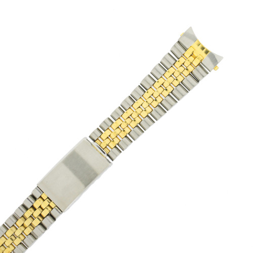 Watch Band Jubilee Style 2-Tone Stainless Steel 20mm - TSMET227
