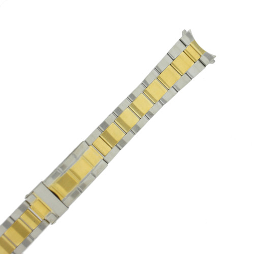 Watch Band Oyster Style 2-Tone Stainless Steel 20mm - TSMET228-20