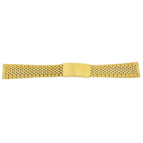 Watch Band Jubilee Style Link Metal Gold-Tone w. Straight Ends - Main