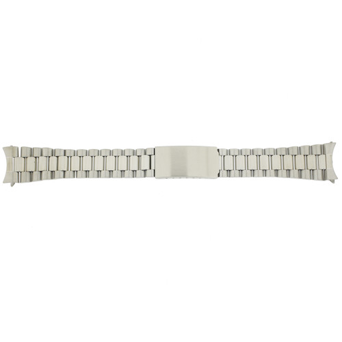 Watch Band Metal w. Stainless Steel Matte Finish Curved Ends - Main