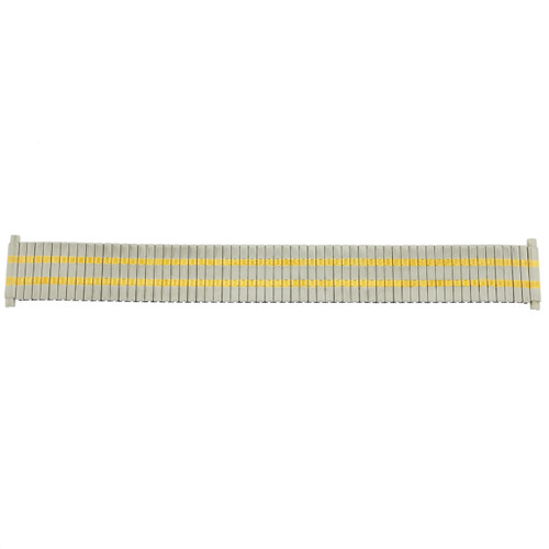 Watch Band Expansion Metal Stretch Two Tone Silver-Gold Thin Line - Main