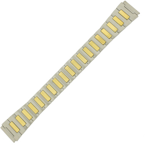 Watch Band Expansion Stretch Metal Two-Tone Tone Mens 18 - Main