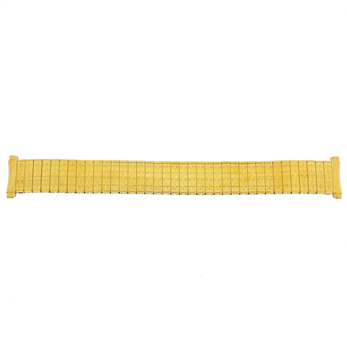 Watch Band Expansion Metal Stretch Gold-Tone Curved Ends - Main