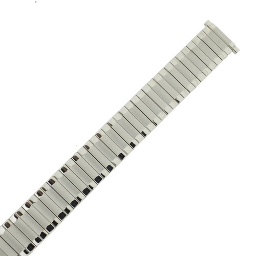 Watch Band Expansion Metal Stretch Silver-Tone 17mm- 22mm - TSMET335