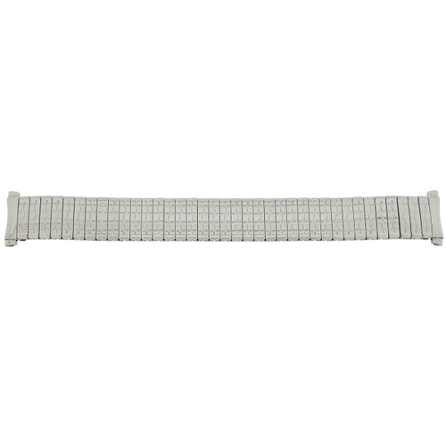 Watch Band Expansion Metal Stretch Silver-tone Curved End - Main