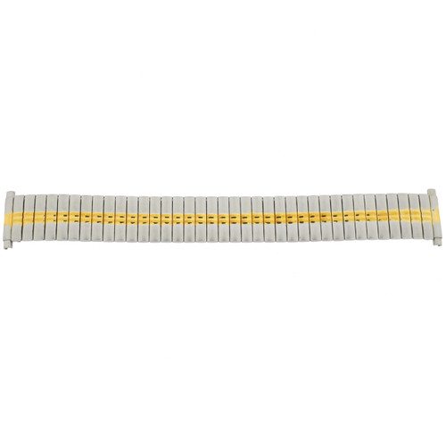 Watch Band Expansion Metal Stretch Two-Tone Silver-Gold - Main