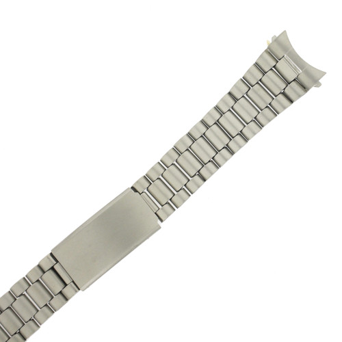 Watch Band Stainless Steel Metal Fits Curved 20 millimeters