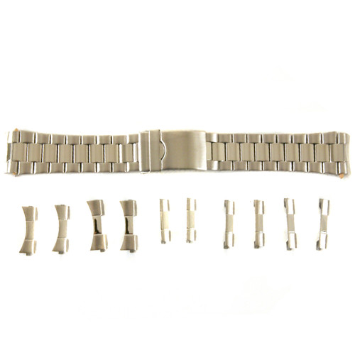Watch Band in Stainless Steel Metal sizes 18mm - 22mm - Main