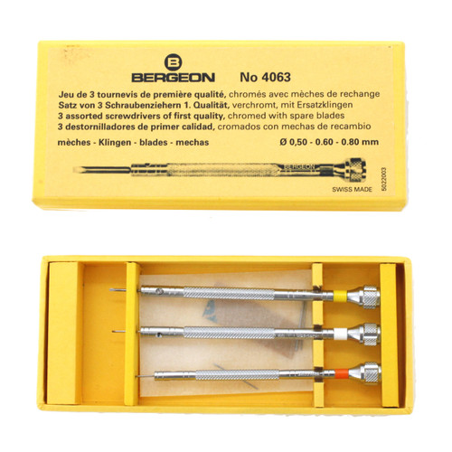 Bergeon Screwdriver Set Storage Case 4063 | Tool for Watchmakers and Watch Repair - Main