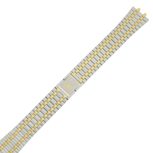 Gucci 9000M replacement Watch Strap - Stainless Steel and Gold Plated